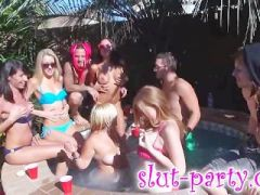 Pool party turns into sex orgy